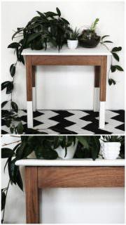 Holztisch mit Chalk Paint upcyceln