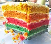 Regenbogentorte für Kinder (ohne Zucker)