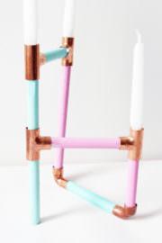 DIY Kerzenständer aus Kupfer