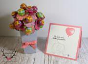 Chupa Chups Blumenstrauß und kleine Karte für Lieblingsmenschen