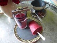 Frucht-Saft-Eis-Zeit