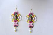 Wie macht man ein Paar von Faden- Geflochtene und Perlen-Tropfen-Ohrringe