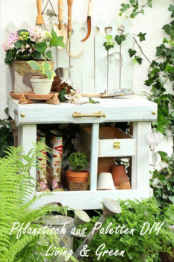 pflanztisch aus paletten diy anleitung handmade kultur. Black Bedroom Furniture Sets. Home Design Ideas