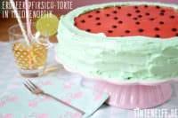 Erdbeer-Pfirsich-Torte in Melonenoptik