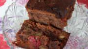 Schoko-Himbeer-Walnuss-Kuchen