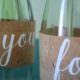 Fruchtiges DIY aus Korkstoff - Blumenvase Upcycling-Projekt