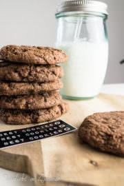 Schokoladen-Cookies, die mich umhauen und sogar gefroren ein Hit sind