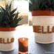 DIY Kork Buchstaben für Blumentöpfe
