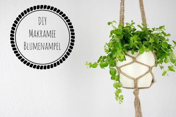makramee blumenampel kn pfen handmade kultur. Black Bedroom Furniture Sets. Home Design Ideas