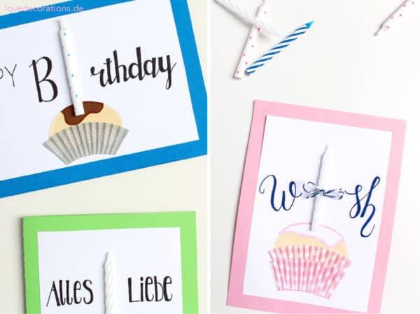 DIY Muffin Geburtstagskarte