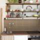 DIY Küche mit offenen Regalen