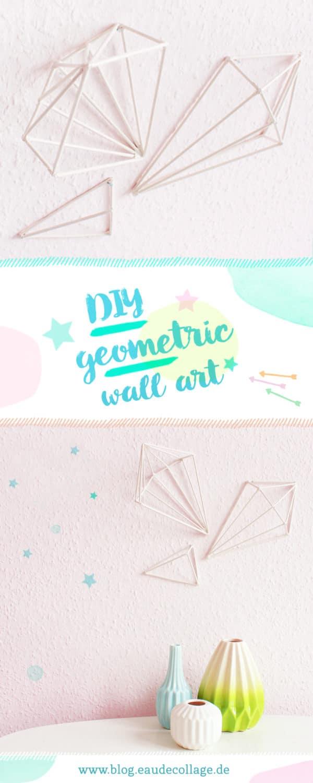 DIY GEOMETRIC WALL ART / WANDOBJEKTE BASTELN