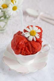 """Erdbeer Sorbet!"""