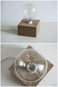 DIY Kork-Tischleuchte