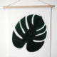 DIY Monstera-Print im Wandkarten-Look