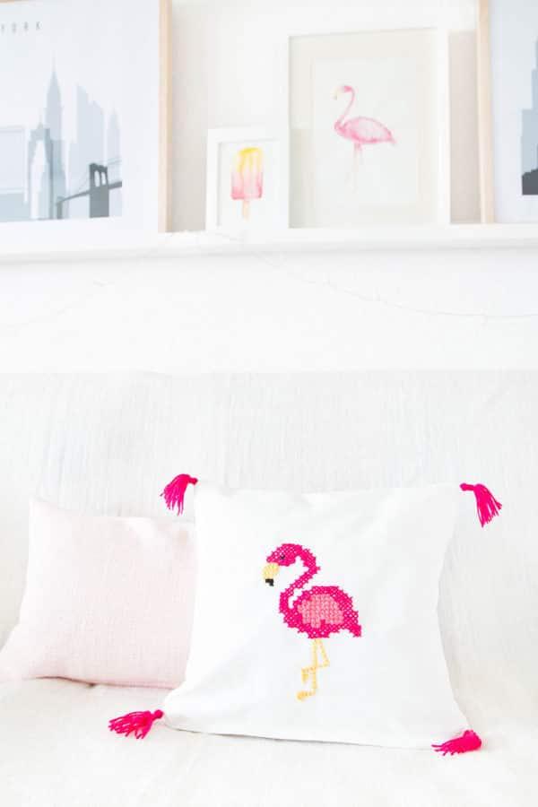 DIY Flamingo Kissen