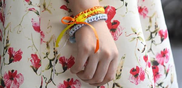 Satinband Armband