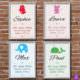 Poster zur Geburt (verschiedene Farben) A4