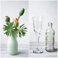 Hobnail Vasen und Gläser