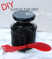 DIY Becher Sleeve