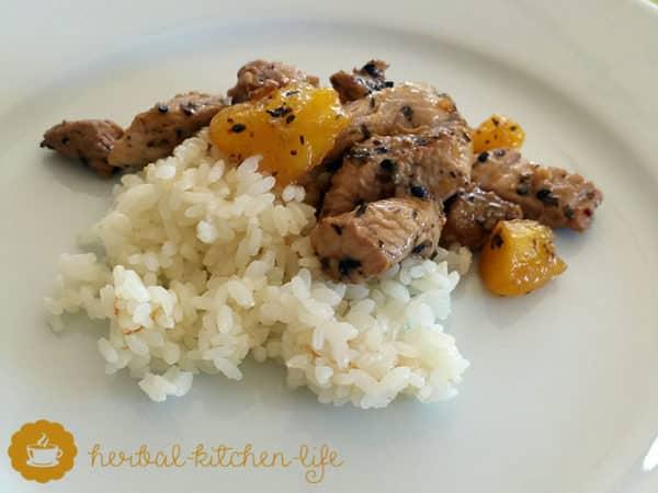 Mango-Chicken-Teriyaki - selfmade -