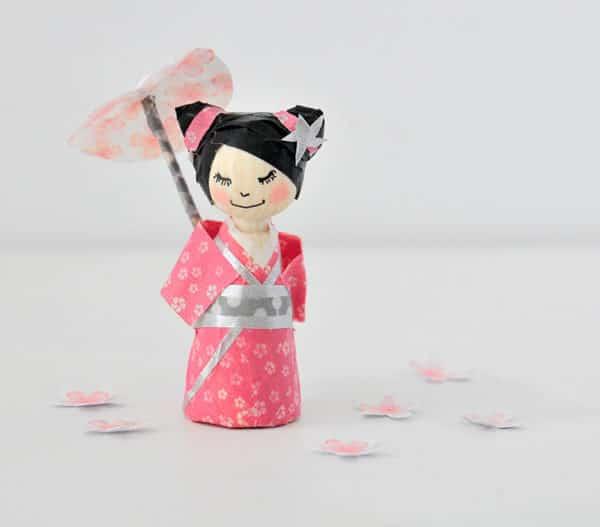 Washi Tape Kokeshi
