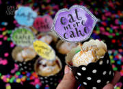 Printable - Muffin Topper mit Handlettering