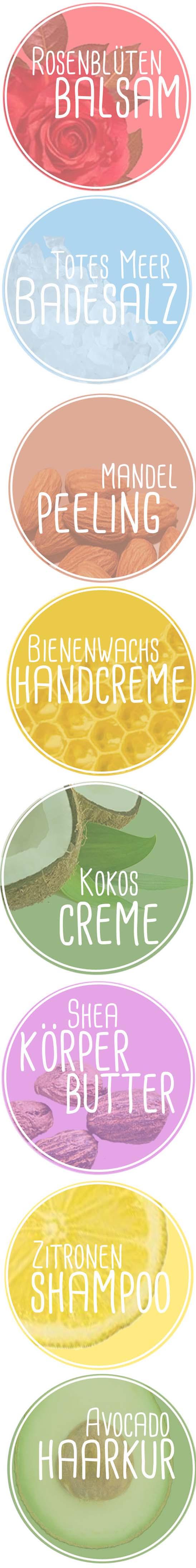 8 Rezepte für Naturkosmetik inkl. Etiketten