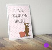 """A4 Kinder-Poster """"Bär"""""""