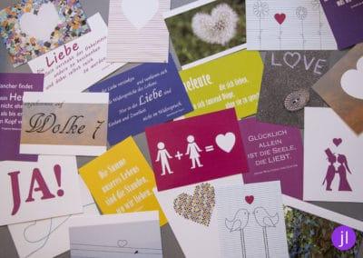 26 Postkarten - 1 Jahr lang für das Hochzeitspaar