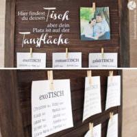 Sitzplan Tafel zur Hochzeit