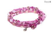 Wickelarmband - pink