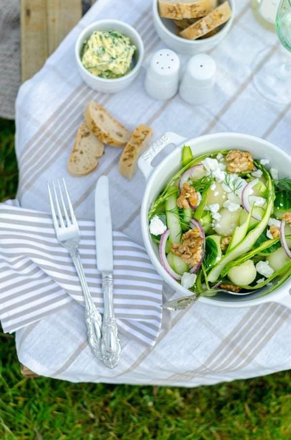 Melonen-Gurken-Salat von den [Foodistas]