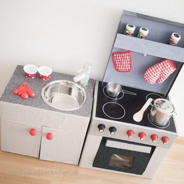 DIY-Spielküche aus Pappe - Teil 2: Die Spüle - HANDMADE Kultur
