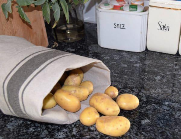 Ein Kartoffelsack genäht
