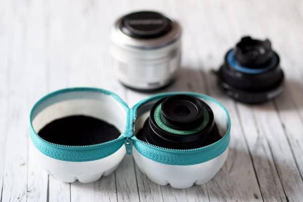 Objektiv-Case aus Plastikflaschen