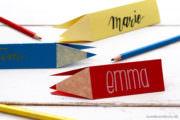 DIY Namensschild in Stiftform