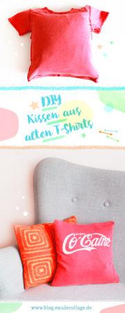 DIY KISSEN AUS EINEM T-SHIRT