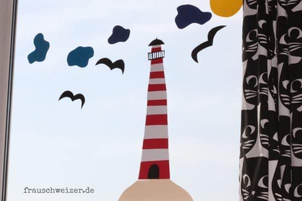 Anleitung Fensterbild: Fietes Leuchtturm