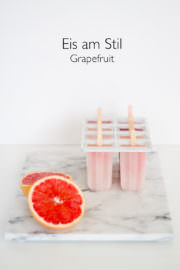 Grapefruit Eis am Stiel