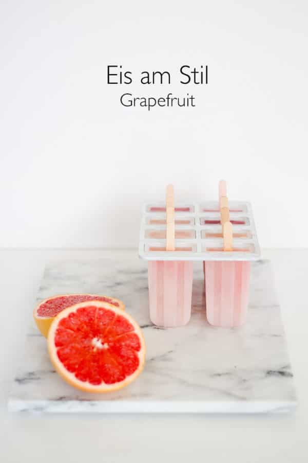 Grapefruit Eis am Stiel