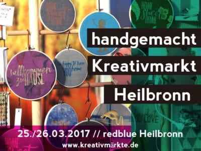 1. Handgemacht Kreativmarkt Heilbronn 25./26.03.2017 redblue