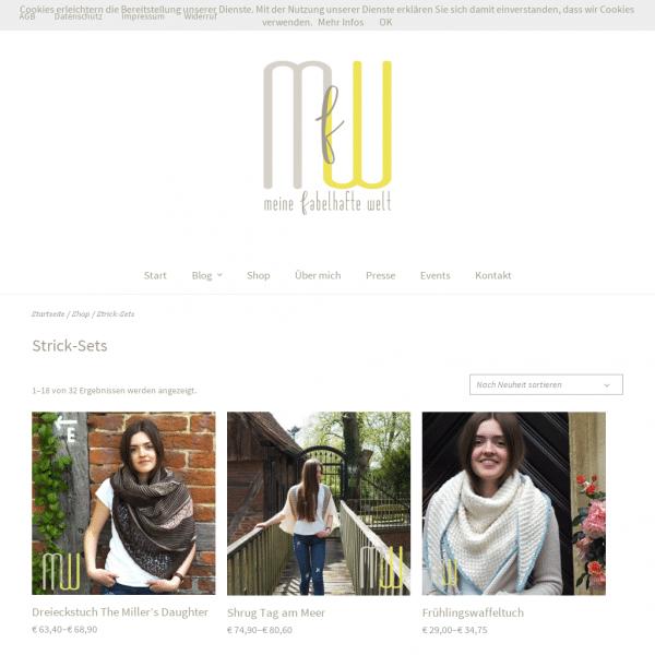 Meine fabelhafte Welt - Der Online-Shop für Strick- und Häkelsets und schöne Garne