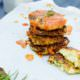 Kartoffel-Zucchini-Plätzchen mit Tomatenmarmelade von den [Foodistas]