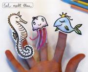 Meerestiere-Fingerpuppen