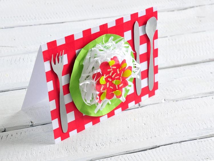 diy 3d spaghetti karte handmade kultur. Black Bedroom Furniture Sets. Home Design Ideas