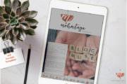 DIY-Mediakit + Freebie Design Vorlage
