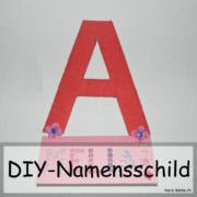 DIY Namensschild
