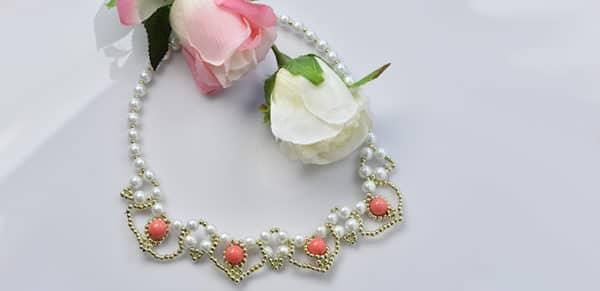 wie die weiße Perlenkette zu machen.