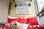 DIY Handlettering Wandbild aus Holz für den Balkon